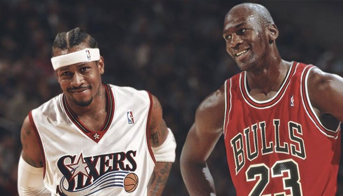 Michael Jordan Allen Iverson record all-time playoffs