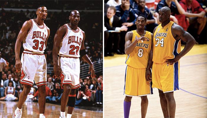 Scottie Pippen, Michael Jordan, Kobe Bryant et Shaquille O'Neal