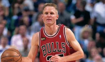 Steve Kerr sous le maillot des Chicago Bulls