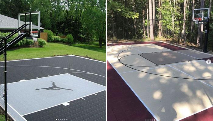 terrain basket en extérieur