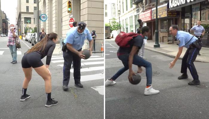 Une youtubeuse a eu la bonne idée d'organiser des 1v1 entre policiers en manifestants