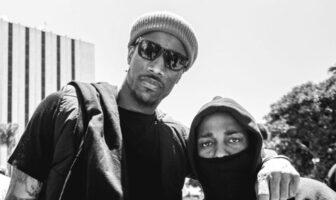 DeMar DeRozan et Kendrick Lamar lors de l'hommage à George Floyd à Los Angeles