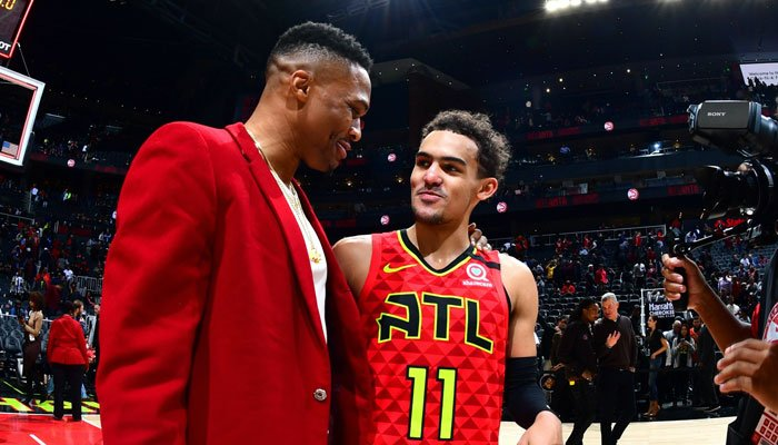 Russell Westbrook et Trae Young