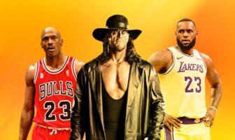 Michael Jordan, The Undertaker et LeBron James