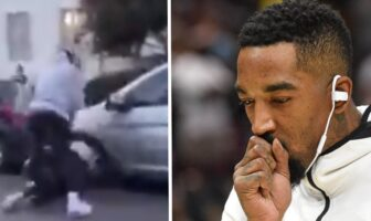 JR Smith se bat dans les manifs
