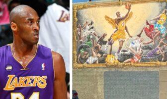 Kobe Bryant et une affiche murale