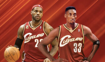 LeBron James et Scottie Pippen sous le maillot des Cleveland Cavaliers