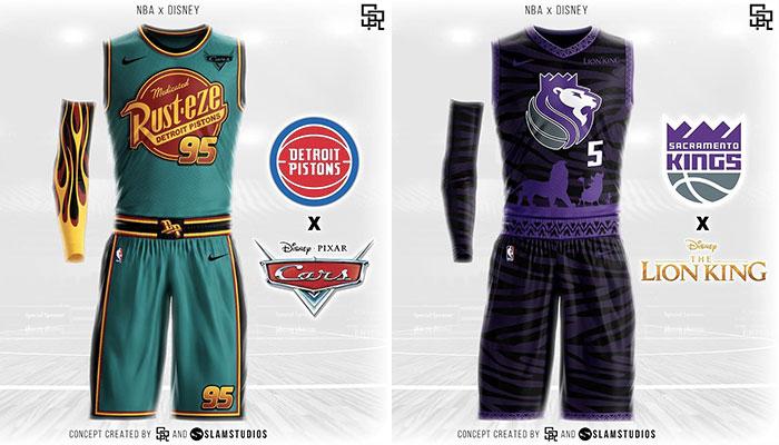 Un designer imagine les maillots des franchises version Disney !