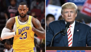 LeBron James donald trump NBA