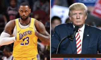 LeBron James donald trump NBA