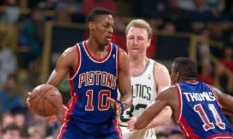 Dennis Rodman, Larry Bird, Isiah Thomas
