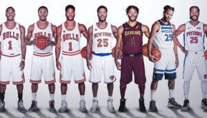 NBA – Un graphiste retrace la transformation des stars au fil des années !