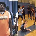 NBA/HS – « Baby Escalade », le meneur lycéen de 135 kg qui affole la toile !