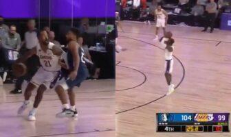 Premier show de JR Smith en tant que Lakers-NBA