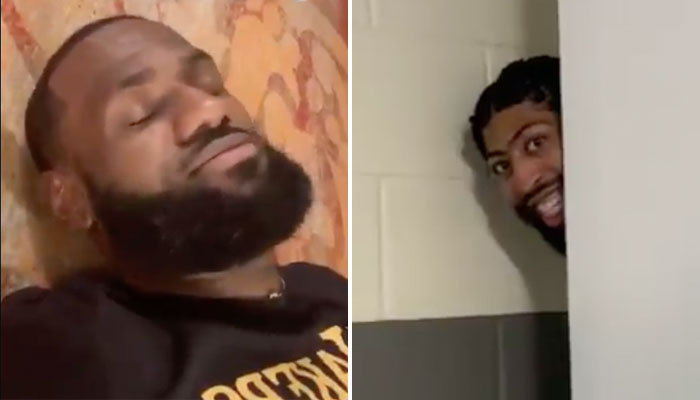 LeBron James et Anthony Davis se sont amusés après la rencontre des Lakers NBA