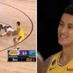 NBA – Kyle Kuzma arrache les chevilles de son adversaire… et lâche un horrible air ball !
