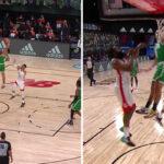 NBA – Un joueur des Celtics provoque James Harden après un gros dunk !