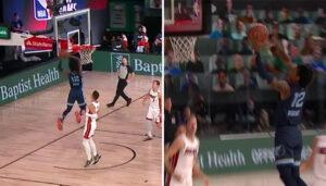 NBA – Ja Morant claque un énorme alley-oop en contre-attaque !