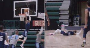NBA – Ja Morant envoie un alley-oop acrobatique et s'écrase au sol !