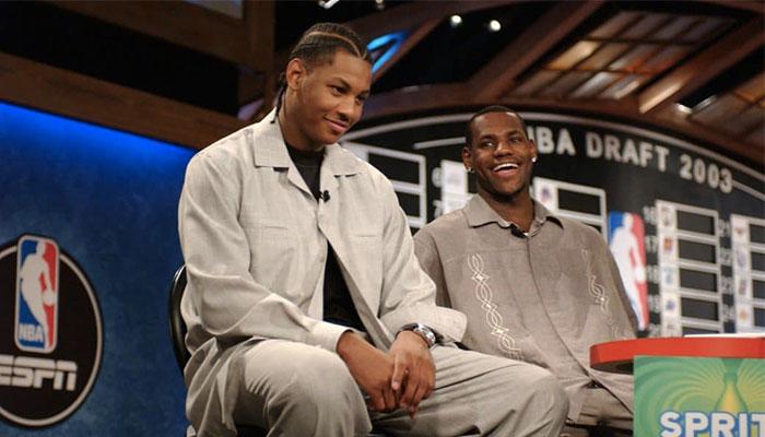 Carmelo Anthony et LeBron James à quelques minutes de la Draft NBA 2003