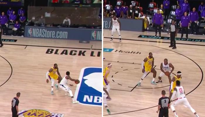 Défense de LeBron sur Kawhi et Paul George-NBA