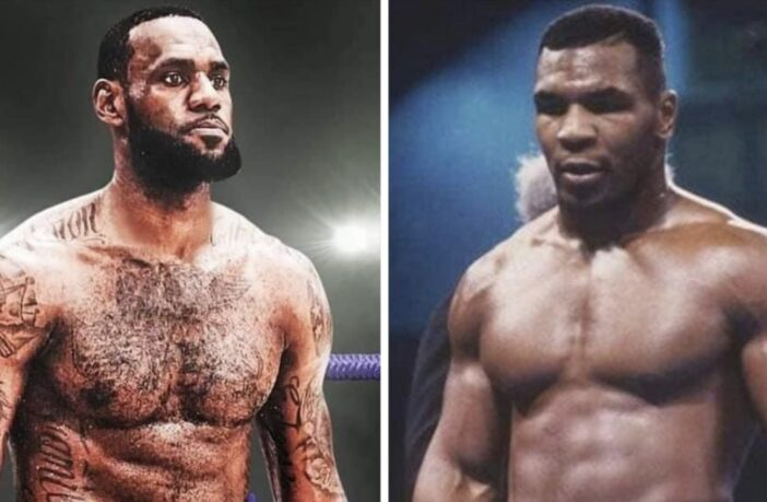 LeBron James et Mike Tyson