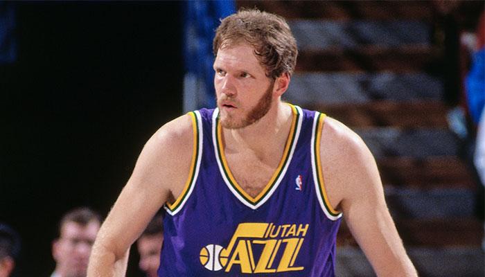 Mark Eaton sous le maillot du Utah Jazz