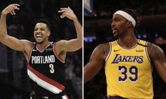 NBA Cj McCollum Blazers Dwight Howard Lakers
