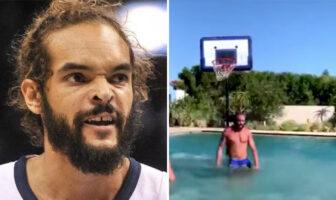 Joakim Noah Clippers entrainement piscine