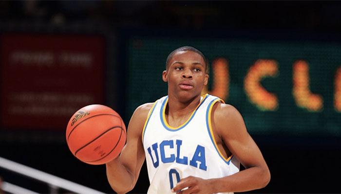 Russell Westbrook sous le maillot de UCLA avant sa draft NBA par les Seattle Supersonics
