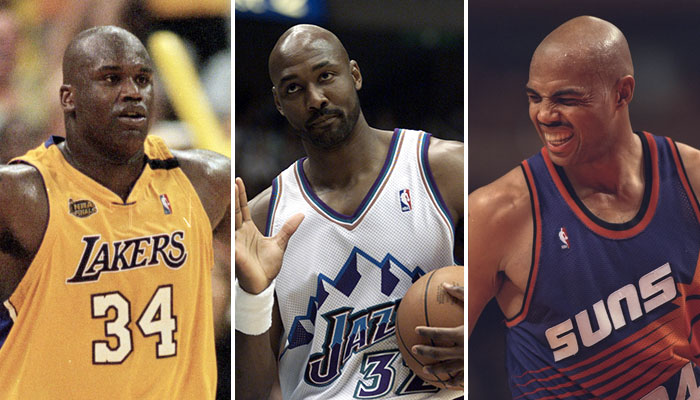 Shaquille O'Neal, Karl Malone et Charles Barkley