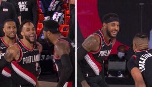 NBA – Un shoot ultra clutch de Melo et Portland file en playoffs !