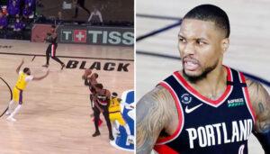 NBA – Les deux missiles de Damian Lillard pour battre les Lakers !