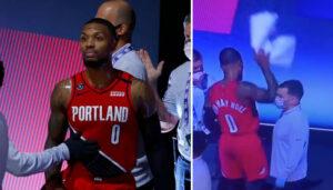 NBA – La colère de Damian Lillard au moment de quitter le parquet