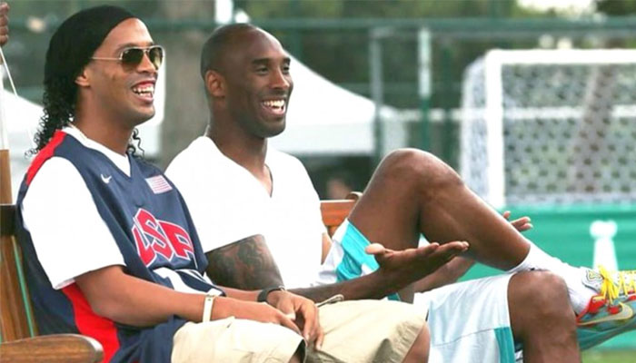 Ronaldinho et Kobe Bryant