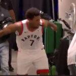 NBA – Kyle Lowry craque, et célèbre trop excessivement la victoire face aux Nets