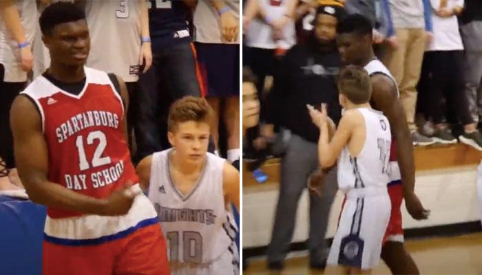 Zion Williamson contre Bryson Bishop avant son arrivée en NBA