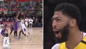 NBA – Lillard tente un énorme dunk sur AD… qui le renvoie chez lui !