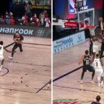 NBA – Bol Bol se mange son premier poster en pleine face !