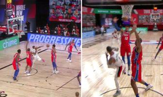 Damian Lillard marque un des paniers les plus WTF de l'histoire NBA