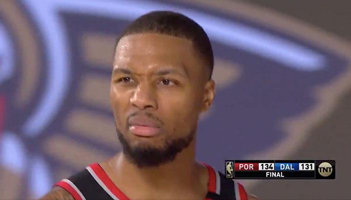 NBA - Ce que Damian Lillard a crié devant les caméras après son énorme carton