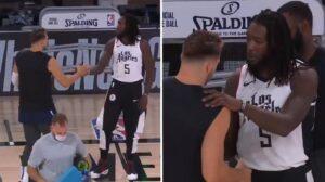 NBA – Montrezl Harrell vient voir Luka Doncic avant le match