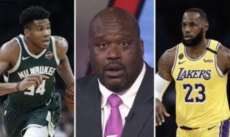 Giannis Antetokounmpo, Shaquille O'Neal et LeBron James