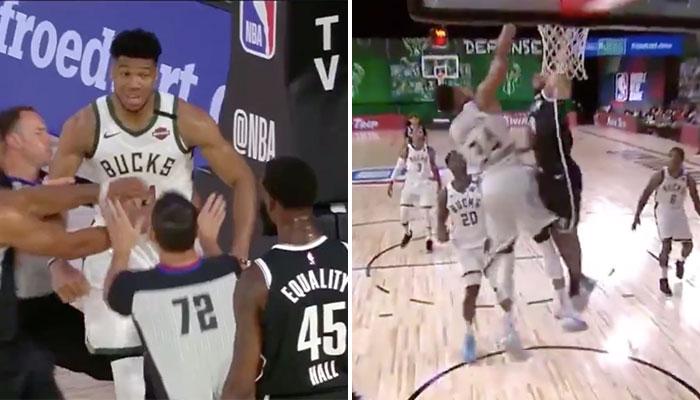 NBA - Giannis Antetokounmpo s'embrouille avec les Nets... et se fait postérieur !