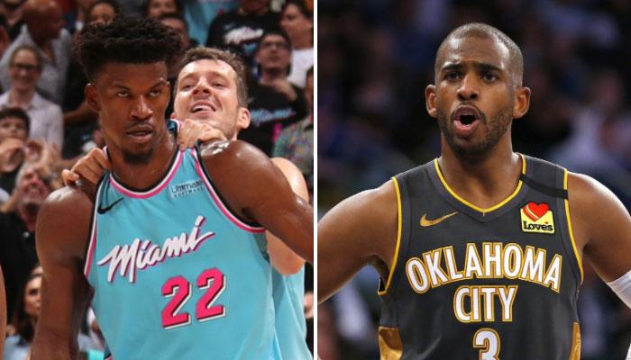 Jimmy Butler menace Chris Paul après son geste polémique NBA