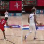 NBA – Stoppé par Harden, Embiid proche de perdre son sang-froid