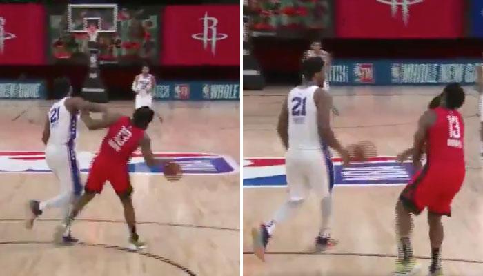 Stoppé par Harden, Embiid proche de perdre son sang-froid NBA