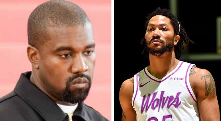 Kanye West et Derrick Rose