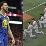 NBA – Klay Thompson dégomme un joueur de MLB qui refuse de s'agenouiller