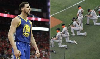 NBA - Klay Thompson dégomme un joueur de MLB qui refuse de s'agenouiller